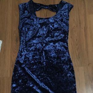 B3 Forever 21 Velvet Blue Dress